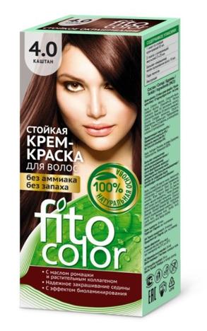 """Fitocosmetics Fitocolor Farba-krem do włosów nr 4.0 kasztan  1op."""""""