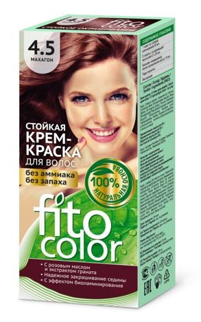 Fitocosmetics Fitocolor Naturalna Farba-krem do włosów nr 4.5 mahoń