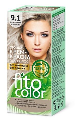 Fitocosmetics Fitocolor Naturalna Farba-krem do włosów nr 9.1 blond popielaty