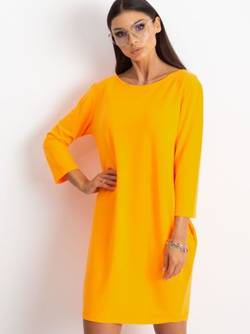 Fluo pomarańczowa sukienka Distinguished