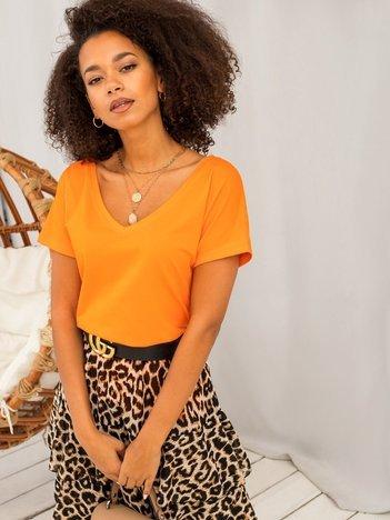 Fluo pomarańczowy t-shirt Emory