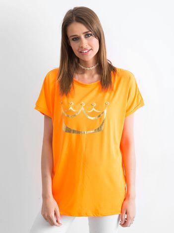 Fluo pomarańczowy t-shirt Kingdom