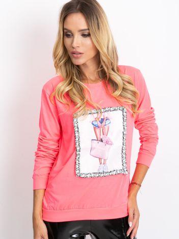 Fluo różowa bluza Crazy