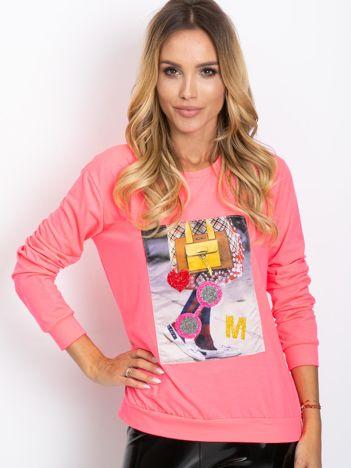 Fluo różowa bluza Fancy