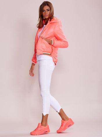 Fluo różowa kurtka z dłuższym tyłem