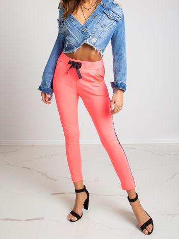 Fluo różowe spodnie Salt