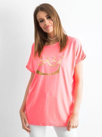 Fluo różowy t-shirt Kingdom