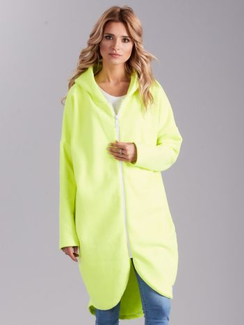 Fluo zielona bluza oversize z kapturem