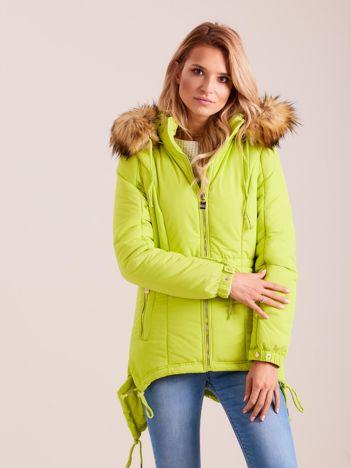Fluo zielona damska kurtka na zimę