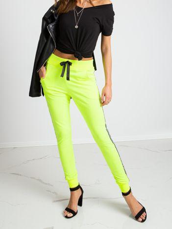 Fluo zielone spodnie Ring