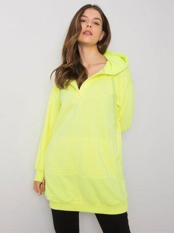 Fluo żółta bluza z kapturem Olive