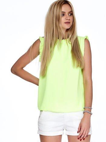 Fluo żółta bluzka z falbankami