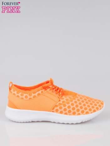 Fluopomarańczowe buty sportowe textile Drive Me Crazy z siateczki na podeszwie flex