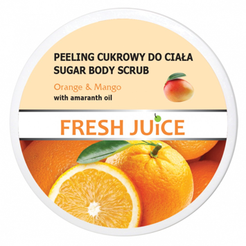 "Fresh Juice Peeling cukrowy do ciała Orange & Mango  225ml"""