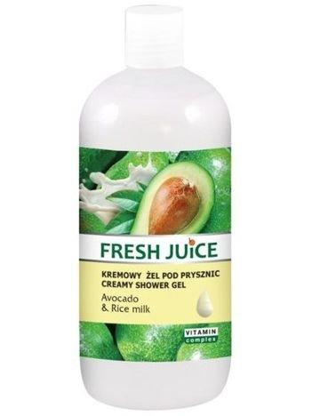 Fresh Juice Żel pod prysznic kremowy Awokado i Mleko Ryżowe 500 ml
