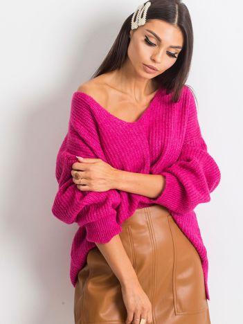 Fuksjowy sweter Wandering