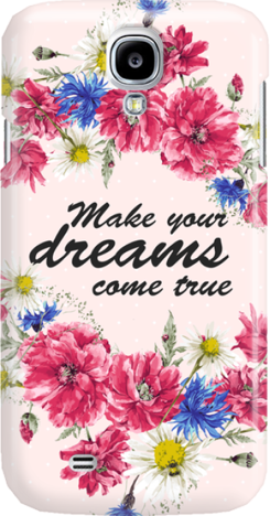 Funny Case ETUI SAMSUNG S4 DREAMS FLOWERS