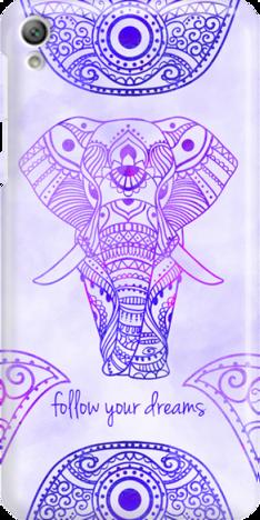 Funny Case ETUI SONY XPERIA E5 ELEPHANT