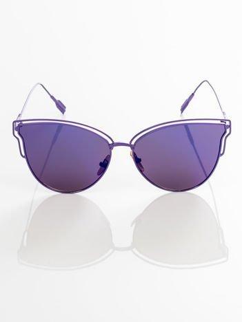 GLAM ROCK okulary przeciwsłoneczne lustrzanki niebieskie CAT EYE HIT !