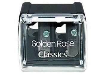 GOLDEN ROSE Temperówka podwójna czarna 999