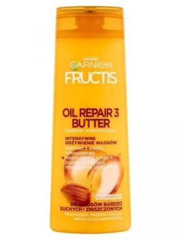 Garnier Fructis Szampon wzmacniający do włosów bardzo suchych i zniszczonych Oil Repair 3 Butter  400 ml