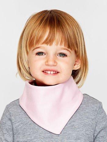 Gładka chustka na rzep dla dziewczynki jasnoróżowa