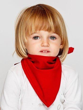 Gładka trójkątna chustka dla dziewczynki czerwona