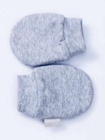 Gładkie jasnoszare rękawiczki dziecięce