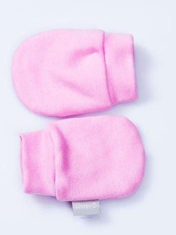 Gładkie różowe rękawiczki dziecięce