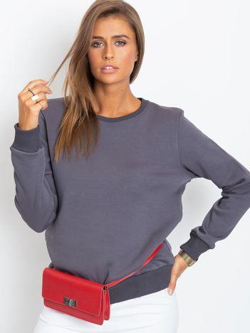 Grafitowa bluza basic
