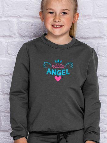 Grafitowa bluza dla dziewczynki LITTLE ANGEL