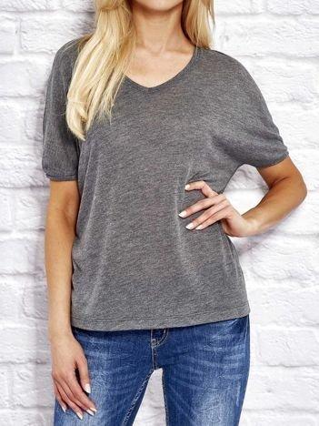 Grafitowa bluzka o kroju oversize