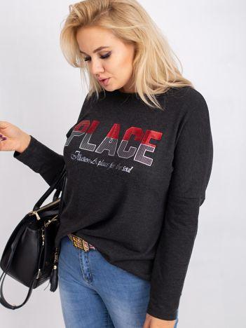 Grafitowa bluzka plus size Gracie