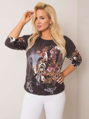 Grafitowa bluzka plus size Linda