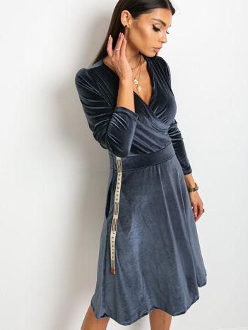 Grafitowa sukienka Velvet