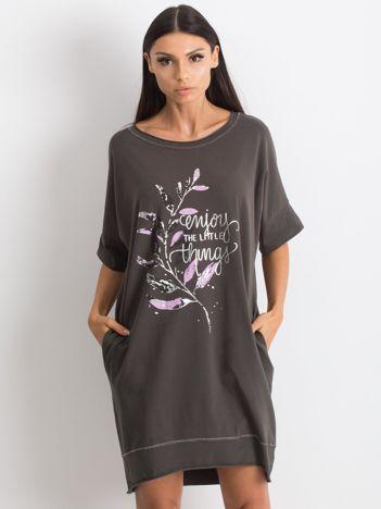 Grafitowa sukienka Venturing