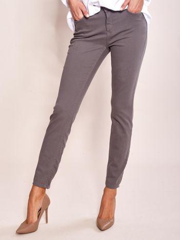 Grafitowe spodnie damskie regular