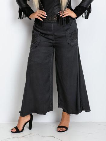 Grafitowe spodnie plus size Honey