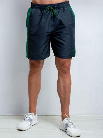 Grafitowo-zielone szorty męskie plus size Movement