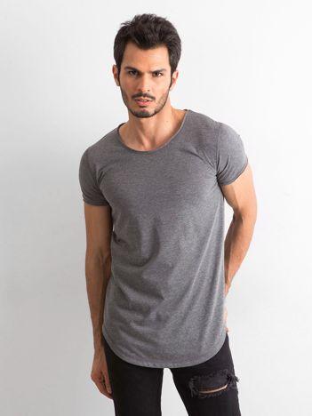 Grafitowy męski t-shirt