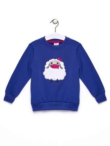 Granatowa bluza dla dziewczynki z owieczką