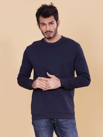 Granatowa bluza męska basic