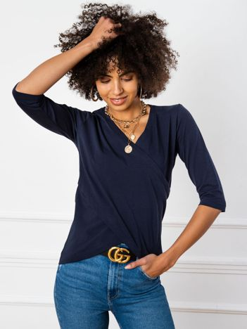 Granatowa bluzka Amanda
