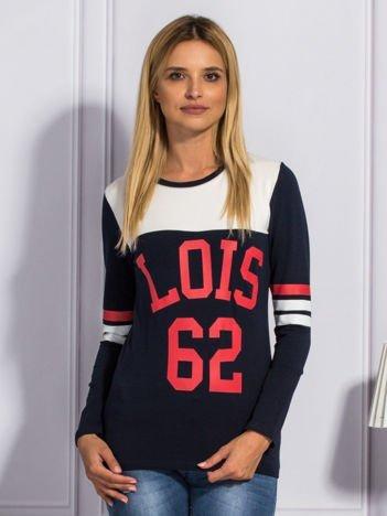Granatowa bluzka LOIS 62