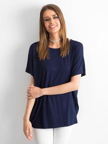 Granatowa bluzka Oversize