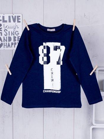 Granatowa bluzka dziecięca urban print