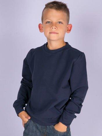 Granatowa gładka bluza dziecięca