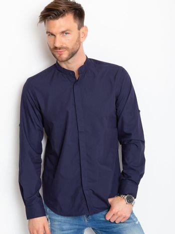 Granatowa koszula męska Liam