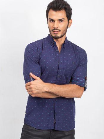 Granatowa koszula męska Trying