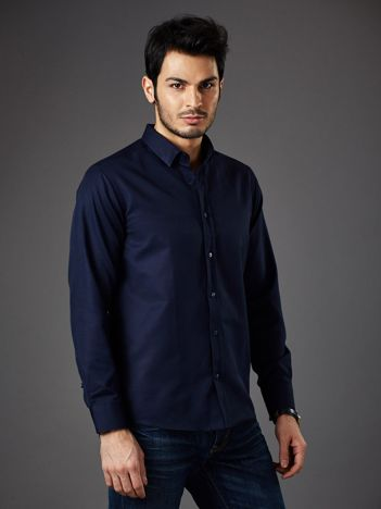 Granatowa koszula męska regular fit